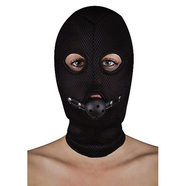 Ouch! Extreme Mesh Balaclavea with Open Ball Gag БДСМ-маска с кляпом все товары contemporary novelties