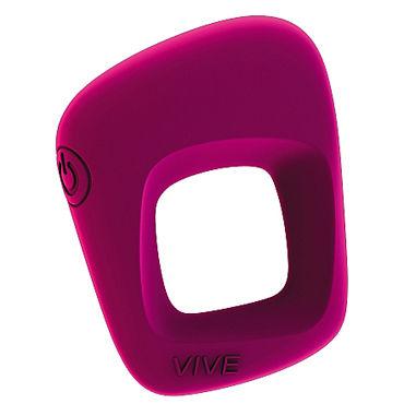 Shots Toys Vive Senca, розовое Эрекционное виброкольцо shunga sensation 250 мл массажное масло лаванда