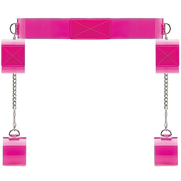 Shots Toys Bad Romance Translucent Bondage Belt with Velcro, Комплект для бондажа