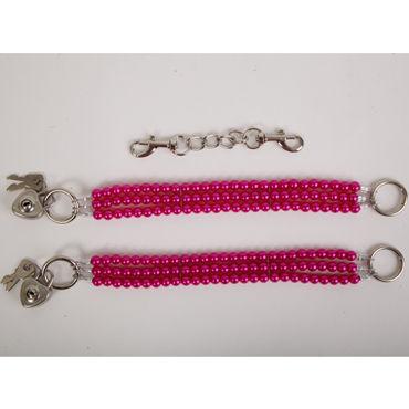 White Label Наножники, красные Жемчужные из трех нитей