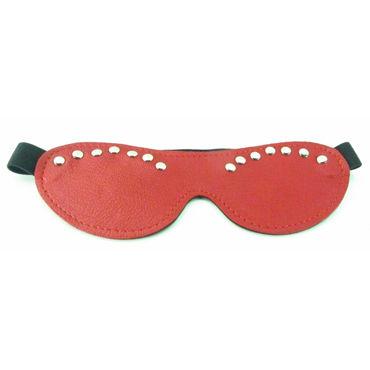 BDSM Арсенал Двухстороння маска, красная С металлическими заклепками bdsm арсенал двухстороння маска коричневая с металлическими заклепками