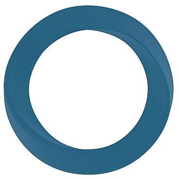 Shots Toys Infinity Thin Large Cockring, синее Эрекционное кольцо на пенис т lifestyles ultra thin