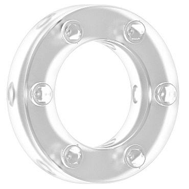 Shots Toys Sono Cockring №41, прозрачное Эрекционное кольцо со стимулирующим рельефом