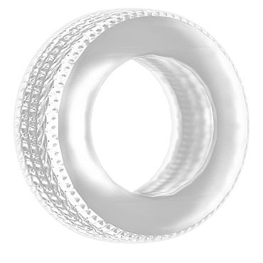 Shots Toys Sono Cockring №44, прозрачное Эрекционное кольцо в форме шины ф ideal monochrom фиолетовый
