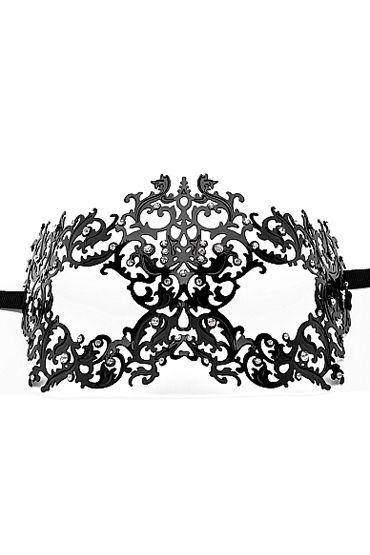 Ouch Forrest Queen Masquerade Mask, черная Маска на глаза в венецианском стиле 0 ouch extreme neoprene mask черная