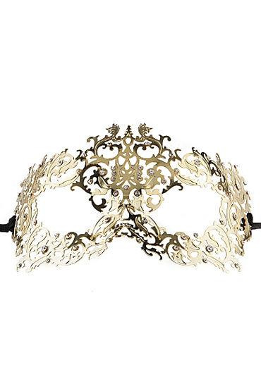 Ouch Forrest Queen Masquerade Mask, золотая Маска на глаза в венецианском стиле продлевающие смазки wet