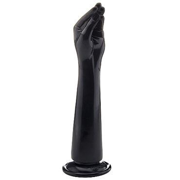 Shots Toys Realrock Realistic Hand, черная Рука для фистинга shots toys stretchy thick penis extension 35 черная
