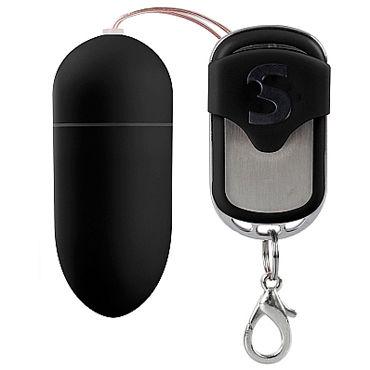 Shots Toys Silicone Remote Controlled Egg, черное Виброяйцо с дистанционным управлением