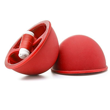 Shots Toys Vibrating Suction Cup, красные Вакуумные стимуляторы для груди