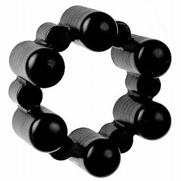 Shots Toys Sixshot, черное Эрекционное кольцо с мощной вибрацией lexy bonnie рельефный минивибратор декорированый стразами