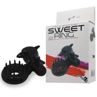 Baile Sweet Ring С Дельфином, черное Эрекционное кольцо, стимуляция клитора ф doc johnson optimale p massager черный