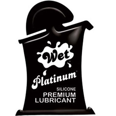 Wet Platinum, 10мл Густой силиконовый лубрикант wet platinum 30 мл густой силиконовый лубрикант