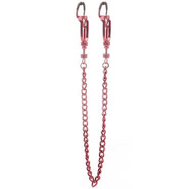 Ouch! Helix Nipple Clamps, червленый Зажимы чтобы сосков ч кольца равно насадки для конец долгота 02 06 см
