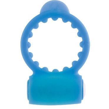 Pipedream Neon Vibrating Cockring, синее Эрекционное виброкольцо
