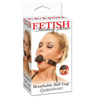Pipedream Breathable Ball Gag Кляп с отверстиями ouch extreme mesh balaclavea with open ball gag бдсм маска с кляпом