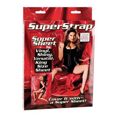 California Exotic Super Strap Super Sheet Покрывало алого цвета