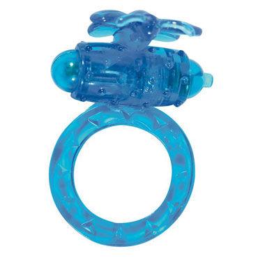 Toy Joy Flutter-Ring, синее Эрекционное виброкольцо