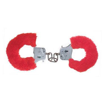 Toy Joy Furry Fun Cuffs, красные Наручники с мехом наручники orion hand schellen металлические с мехом красные