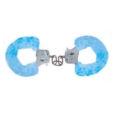 Toy Joy Furry Fun Cuffs, голубые Наручники с мехом