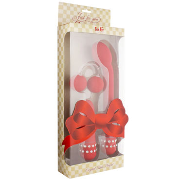 Toy Joy Crystal Playset, красный Набор: вибратор точки G, мини-вибратор, вагинальные шарики