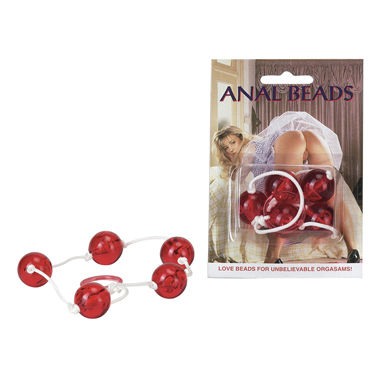 Seven Creations Anal Beads Анальная цепочка с пятью звеньями seven creations anal beads анальная цепочка с пятью звеньями