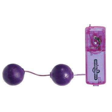 Seven Creations Spectraz, фиолетовые Вагинальные шарики с вибрацией