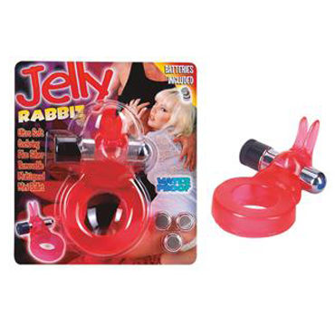 Seven Creations Jelly Rabbit Виброкольцо со стимуляцией клитора lux fetish виброкольцо голубое со стимуляцией клитора