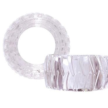NS Novelties Treads Mens Ring Wide, прозрачное Эрекционное кольцо в форме шины contex relief презервативы c кольцами и пупырышками