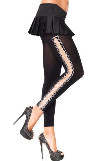 Leg Avenue леггинсы Со шнуровкой по бокам leg avenue комбинация со шнуровкой и бантом