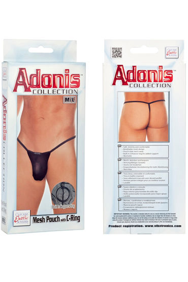 California Exotic Adonis Mesh Pouch with C-Ring - фото, отзывы