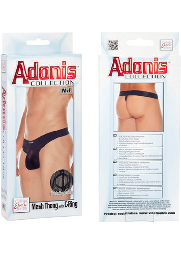 California Exotic Adonis Mesh Thong with C-Ring - фото, отзывы