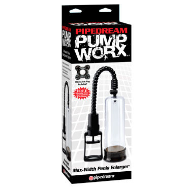 Pipedream Pump Worx Max-Width Penis Enlarger, Мужская помпа с рычагом