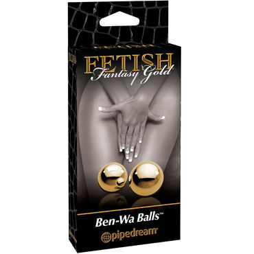Pipedream Gold Ben Wa Balls Элегантные вагинальные шарики shots toys ben wa balls heavy weight