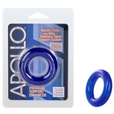 California Exotic Apollo Premium Support Enhancers Extra Large, синее Эрекционное кольцо большого размера