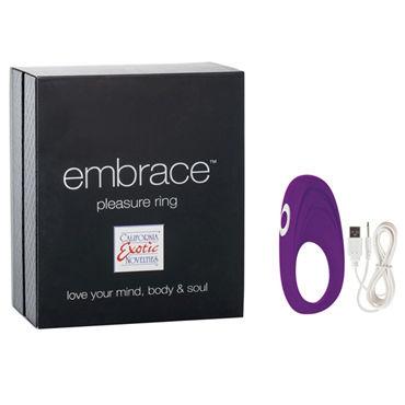 California Exotic Embrace Pleasure Ring, фиолетовое Эрекционное виброкольцо с usb-зарядкой california exotic booty call booty slider розовая анальная пробка