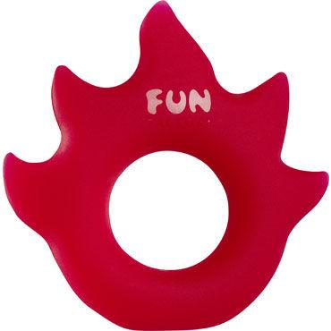 Fun Factory LoveRing Flame, красный Упругое и эластичное эрекционное кольцо chisa виброкольцо с тремя подвесками