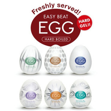 Tenga Eggs Hard Boiled Набор одноразовых мастурбаторов tenga eggs набор одноразовых мастурбаторов