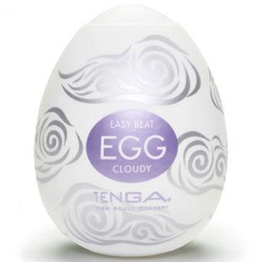 Tenga Egg Cloudy Одноразовый мастурбатор с рельефом в виде облаков tenga egg crater одноразовый мастурбатор с рельефом в виде кратеров