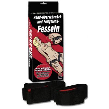 You2Toys Fesseln Ремни на бедра с фиксирующими манжетами ouch deluxe silicone strap on 10 фиолетовый страпон с креплениями