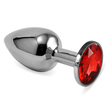 LoveToy Small, красный Серебряная втулка с красным кристаллом