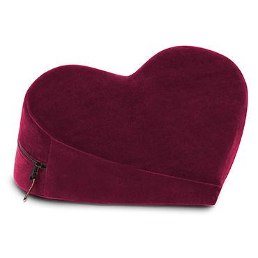 Liberator Heart Wedge, бордовая Подушка для секса в форме сердца