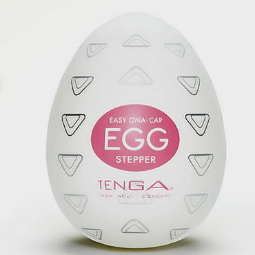 Tenga Egg Stepper Одноразовый мастурбатор с рельефом в виде треугольников tenga egg crater одноразовый мастурбатор с рельефом в виде кратеров
