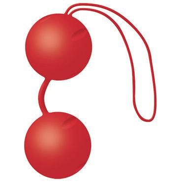 Joy Division Joyballs Trend, красные матовые Вагинальные шарики со смещенным центром тяжести o вибромассажеры joy division