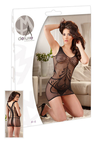 Orion Мини платье, черное Сетчатое с рисунком orion kleid mit string черное я белое