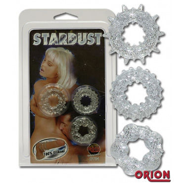 Orion Stardust, прозрачный Набор эрекционных колец 3шт orion kleid mit string черное я белое