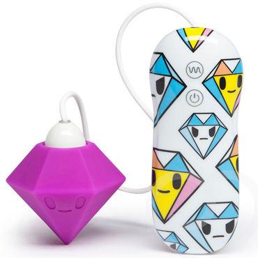 Tokidoki 10 function Purple Diamond, фиолетовый Вибратор с пультом управления анальная ювелирка для мужчин цвет розовый