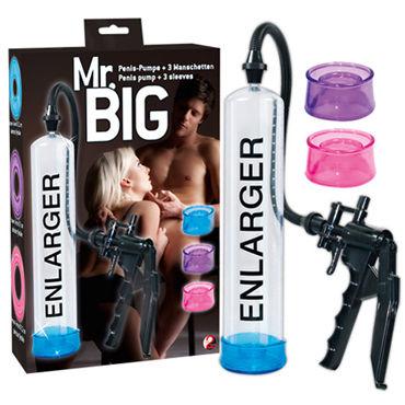 You2Toys Mr. Big Вакуумная помпа со сменными манжетами you2toys bang bang blue помпа с ручным насосом