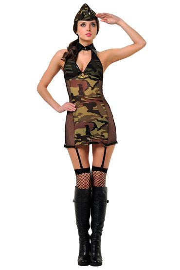 Le Frivole Военная академия Платье, пилотка и чулки luxurious tail анальная пробка с красным хвостом черная силиконовая