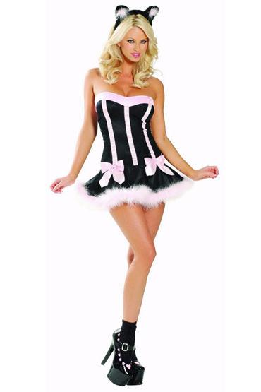 Le Frivole Кошечка Мини-платье и ушки le frivole снежная королева платье с капюшоном