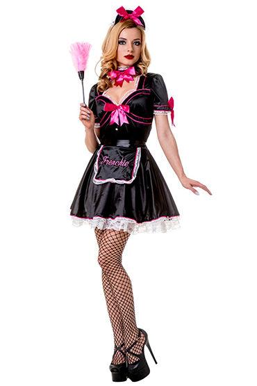Le Frivole Frenchie Kiss Платье, фартук, чепчик и повязка на шею мини платья и сорочки erolanta